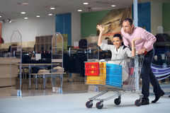 The cheerful shopping Stock Photography