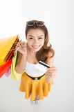 Cheerful shopping Royalty Free Stock Images