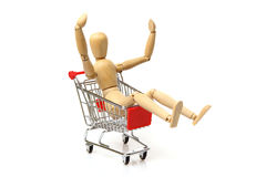 Cheerful shopping Stock Images