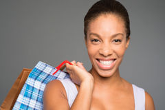 Cheerful shopping Stock Photography