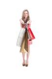 Cheerful shopping female Royalty Free Stock Photos