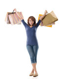 Cheerful shopping woman Stock Image