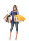 Cheerful shopping woman Royalty Free Stock Image