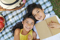 Cheerful siblings Royalty Free Stock Image