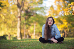 Cheerful Single Teen royalty free stock photography