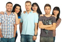 Cheerful six people Stock Images