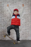 Cheerful skater boy Royalty Free Stock Photo