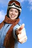 The cheerful skier. Stock Photo