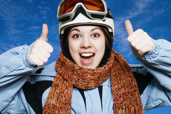 The cheerful skier. Royalty Free Stock Photos