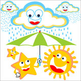 Cheerful in the sky royalty free illustration