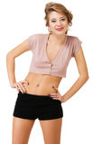 Cheerful slim young woman Royalty Free Stock Photos