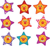 Cheerful small asterisks cartoon Royalty Free Stock Image