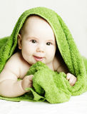 Cheerful small baby. Cute face Royalty Free Stock Photography