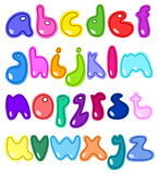 Cheerful small letters. Cheerful set of the abc small letters Royalty Free Stock Photography