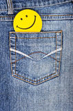 Cheerful smile in your pocket Royalty Free Stock Photography