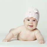 Cheerful smiling baby girl Royalty Free Stock Photos