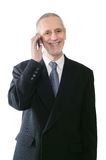 Cheerful and Smiling Businessman on Phone Stock Photos