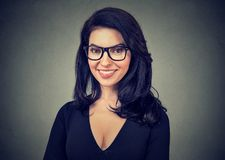 Cheerful smiling businesswoman in glasses Stock Photography