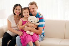 Cheerful smiling family Stock Image
