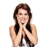 Cheerful smiling woman Royalty Free Stock Photo