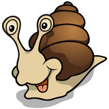 Cheerful Snail Royalty Free Stock Image