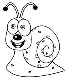 Cheerful snail profile for coloring Stock Images