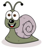 Cheerful snail profile Stock Photos