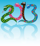 Cheerful snakes Royalty Free Stock Photography
