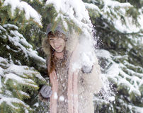 Cheerful snow Stock Images