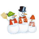 Cheerful snowman Stock Photography