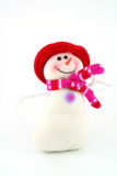 Cheerful snowman Stock Photos