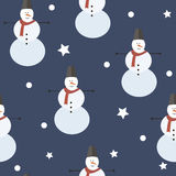 Cheerful snowman background Stock Image