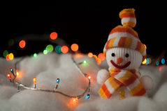 Cheerful snowman. Christmas Card Royalty Free Stock Image