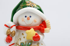 Cheerful snowman Stock Image