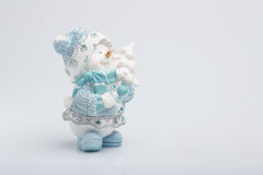 Cheerful snowman Stock Image