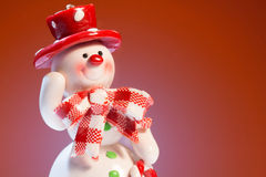 Cheerful snowman Stock Images