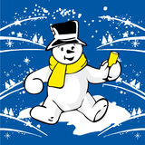 Cheerful snowman  Royalty Free Stock Photos