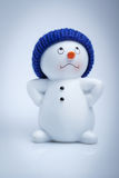 Cheerful snowman Stock Photo