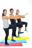 Cheerful sport team workout Stock Photography