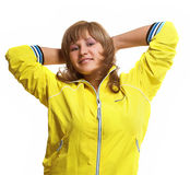 Cheerful sportive woman Stock Image