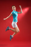 Cheerful sportswoman Stock Image