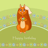 Cheerful squirrel Stock Images
