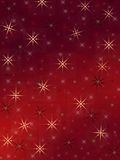 Cheerful stars. On the red background Royalty Free Stock Photos