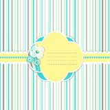 Cheerful stripe and flowers greeting card Royalty Free Stock Photos