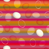 Easter eggs. Cheerful striped seamless wallpaper Stock Photos