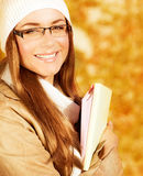 Cheerful student girl Stock Images