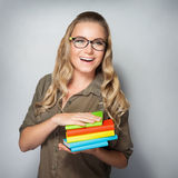 Cheerful student girl Royalty Free Stock Images
