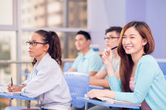 Cheerful student royalty free stock photo
