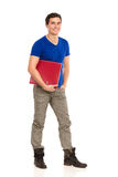 Cheerful student with ring binder. Stock Image