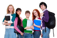 Cheerful students Royalty Free Stock Image
